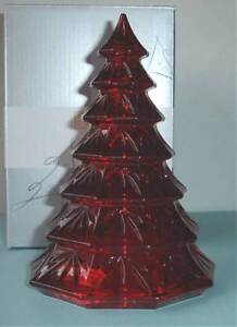 """Nachtmann Riedel RED CRYSTAL CHRISTMAS TREE Decoration 6.5"""" High New"""
