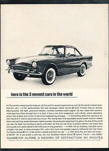 1963-1964-Sunbeam-Alpine-Origina-Vintage-Advertisement-Car-Print-Ad