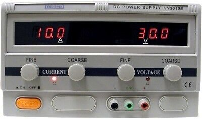 Mastech Hy3010e Switching Dc Power Supply Variable 0-30 Volts 0-10 Amps