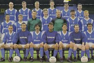 HARTLEPOOL UNITED FOOTBALL TEAM PHOTO 1987-88 SEASON