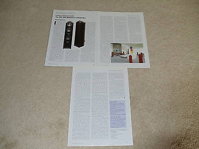 KEF 205 Reference Speaker Review, 3 pgs, 2003,Full Test
