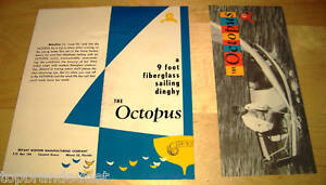 9' OCTOPUS SAILING DINGHY 1956 BROCHURE VINTAGE PAPER AD RARE