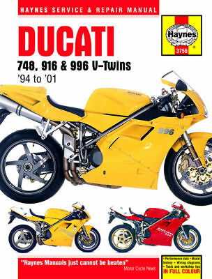 Ducati 748 916 SP 996 SPS 94-01 Haynes Manual 3756 NEW