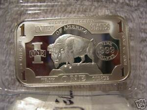 CLASSIC-BUFFALO-1-OZ-Silver-Art-Bar-Bars-999-Bullion