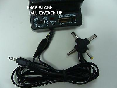 Universal AC Adapter Power Plug 1 5 3 4 5 6 7 5 9 12 Volt