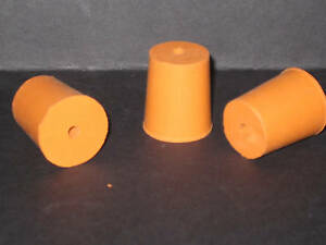 34mm-Bottom-Diameter-Rubber-Bung-with-1-Hole-4mm-Stopper-Cork-New-ref15