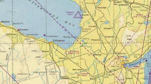 Lake Huron Sectional Aeronautical Chart W-8 1950 | eBay