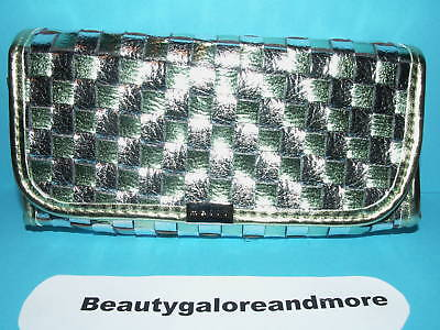 Mally Beauty Green Silver Cosmetic Makeup Case Bag