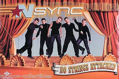 N SYNC 2000 NO STRINGS ATTACHED 2-SIDED PROMO POSTER ORIGINAL