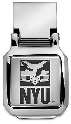 New York University Bobcats Nyu Engraved Silver Spring Money Clip