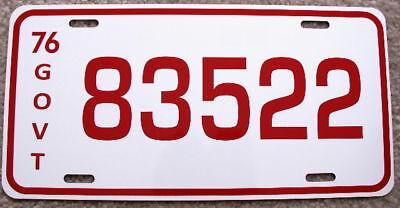 Dukes Of Hazzard Rosco License Plate 83522 Dodge Monaco Police Mopar 440
