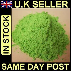 FLUORESCENT GREEN 250g POWDER PAINT  FOR ART & CRAFT NON TOXIC ODOUR FREE