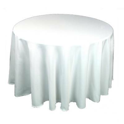 10 round 120 polyester tablecloths 5ft table cover high for 120 round white table linens