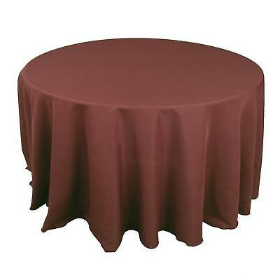 12 round 132 inch tablecloths 100 polyester 25 colors for 12 inch round table