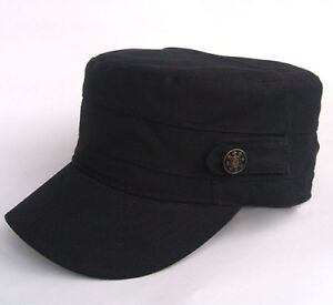Adjustable Classic Army Cadet Military Flat Top Hat Cap