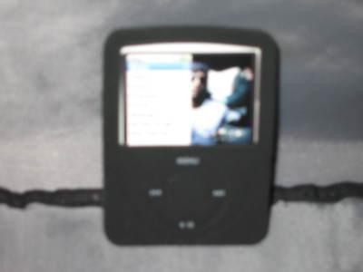 3g Nano Ipod Black Skin Rubber Music Protect