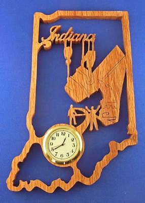 State Of Indiana Clock