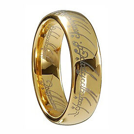 GF 18KT YELLOW GOLD 7MM LORD OF THE RINGS RING COMFORT