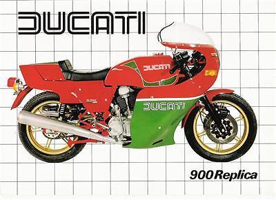 1982 Ducati 900mhr Mike Hailwood Replica Brochure