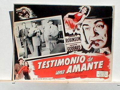 Lobby Card Poster Vice Squad Edward G. Robinson Goddard 1953