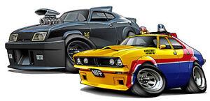 mad max movie cars cartoon car graphic wall decal home