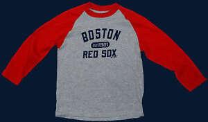 BOSTON-RED-SOX-LONGSLEEVE-RINGER-Tee-BOYS-MEDIUM-NWT