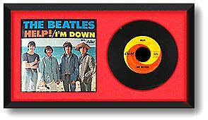 45 Rpm Record Vinyl Amp Cover Display Frame Black Ebay