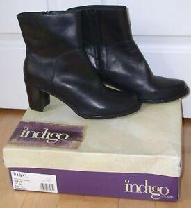 New Clarks Indigo Black Lea Saunter Boots 11