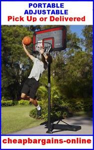 PORTABLE SLAM DUNK BASKETBALL STAND RING SYSTEM NET ADJ