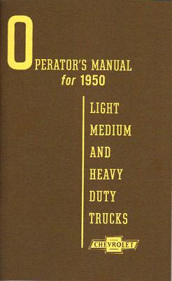 1950 Chevrolet Truck Light-heavy Duty Owner's Manual