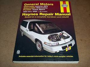 1990 1996 lumina silhouett haynes repair service manual ebay. Black Bedroom Furniture Sets. Home Design Ideas