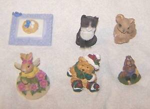6-Animal-Figurines-Each-About-2-High-or-Wide-V-Good-Mb