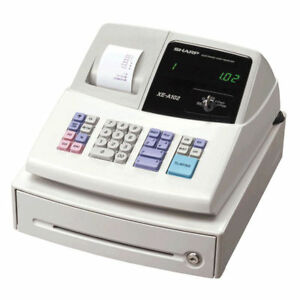 Sharp XE-A102 Cash Register + 40 Till Rolls, Ink, Pen