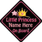 Princess on Board Car Sign