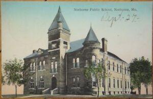 1910-Postcard-The-Public-School-Norborne-Missouri-MO
