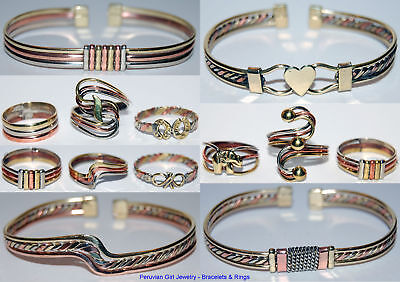 40 Metal Rings Bracelets Peruvian Wholesale Jewelry Lot