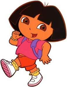 DORA-THE-EXPLORER-Large-Window-Cling-Decal-Sticker-Childrens-Television-NEW