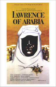 LAWRENCE OF ARABIA  movie poster PETER O'TOOLE