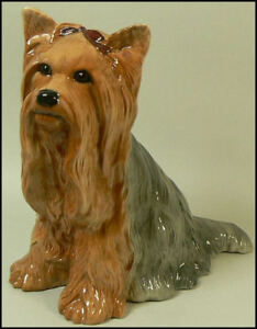 BESWICK POTTERY YORKSHIRE TERRIER FIRESIDE MODEL #2377