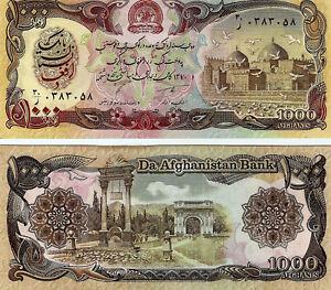 1991-P61-Afghanistan1000-Afghanis-UNC-Taliban-Banknote