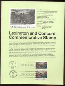 1563-10c-Lexington-amp-Concord-USPS-7509-Souvenir-Page