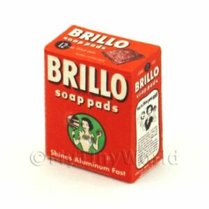Old-Brillo-Soap-Pads-Box-Dolls-House-Mini-Packaging
