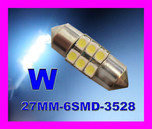 10x-Super-Bright-White-6-SMD-LED-Festoon-27mm-28mm-GTI