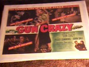 GUN CRAZY 22X28 MOVIE POSTER 1950 FILM NOIR BAD GIRL | eBay