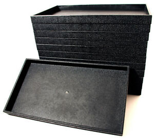 12 Black Plastic Stackable Travel Jewelry Display Tray