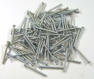 Miniature-Hardware-Parts-100-Pack-of-Small-Steel-Screws-2-56-x-1-Inch