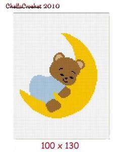 Teddy-Bear-on-Moon-Afghan-Crochet-Pattern-Graph-100st-B