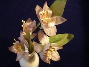 Vintage-Millinery-Flower-Hat-NB5-2-Stem-of4Mocha-Brown