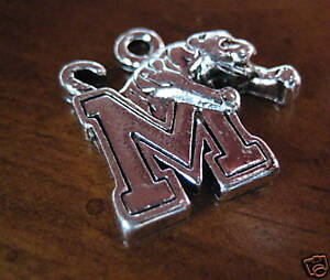 new-Pewter-University-of-MEMPHIS-TIGERS-M-CHARM-jewelry