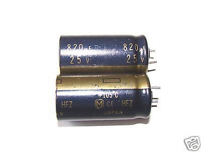 24 Pcs, 820uf 25v, Hfz Electrolytic Capacitors, 105c